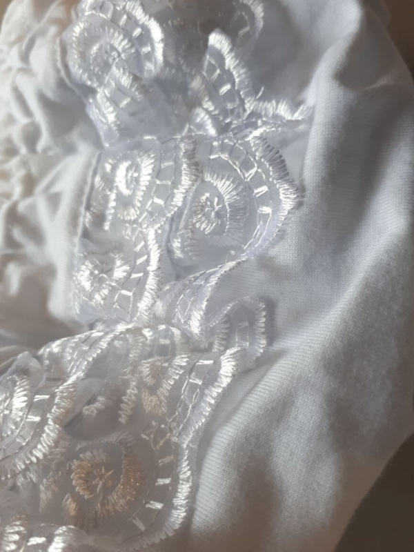 """Трусы-""""фонарики"""" белые с кружевом для девочек от 0 до 2 лет"""