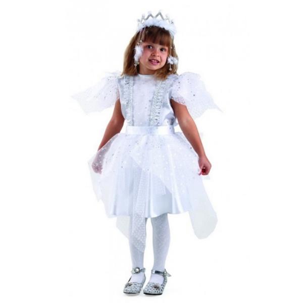 Карнавальный костюм Снежинка серебряная