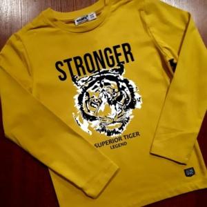 Свитшот трикотажный жёлтый с тигром Ванекс рост 92 - 122