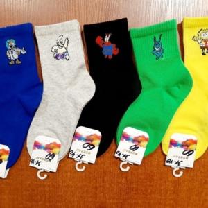 Носки разноцветные Губка Боб